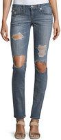 True Religion Skinny Flap-Pocket Fossil Denim Jeans