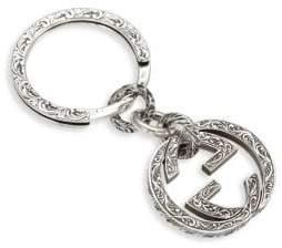 Gucci Sterling Silver Interlocking Key Ring