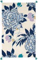 Floral Blooms Tassel Rug, 5 x 8, Multi