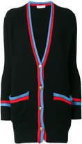 Etro striped trim ribbed cardigan