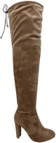 Wild Diva Taupe Amaya Over-the-Knee Boot