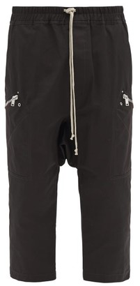 Rick Owens Cropped Canvas Track Pants - Brown