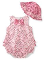 Absorba Babys Two-Piece Romper and Hat Set