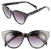 Draper James Women's 50Mm Gradient Lens Cat Eye Sunglasses - Black