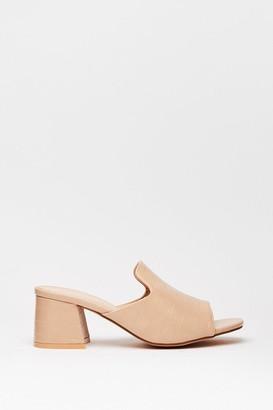 Nasty Gal Womens Too Mule for School Heeled Loafer Mules - Beige - 4
