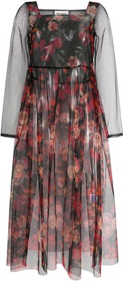 Molly Goddard Tabby floral-print tulle dress