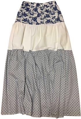Mariuccia White Cotton Skirt for Women