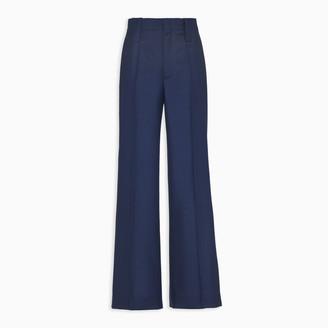 Prada Blue Kid Mohair trousers