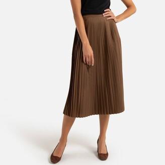 Anne Weyburn Pleated Knee-Length Skirt