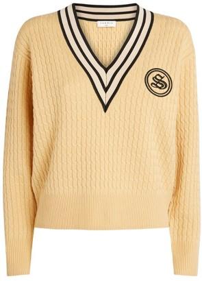 Sandro Contrast-Trim Sweater