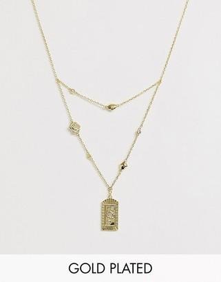 Wanderlust + Co Wanderlust & Co Multi Rosa Gold Necklace