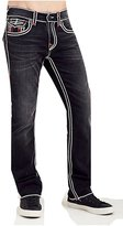 True Religion Men's Straight Leg Relaxed Fit w/ Flap Ropestitch Jeans in