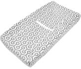 American Baby Company Heavenly Soft Chenille Contoured Changing Table Cover - Gray Honeycomb