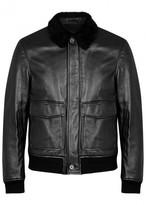 3.1 Phillip Lim Shearling-trimmed Leather Bomber Jacket
