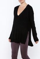 Lush Black Oversized Sweater