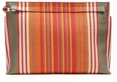 Loewe Striped Canvas Pouch