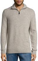 Black Brown 1826 Wool-Blend Quarter-Zip Sweater