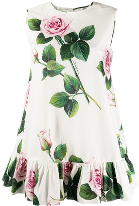 Dolce & Gabbana Tropical rose print tunic