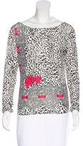 Blumarine Embellished Leopard Print Top