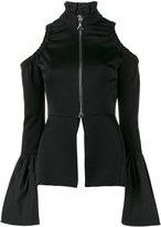 Ellery cold shoulder top - women - Acetate/Polyester - 10