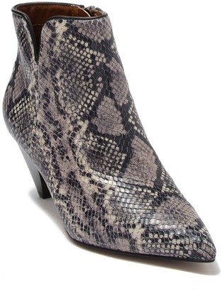 Franco Sarto Dare 2 Snake Print Leather Bootie