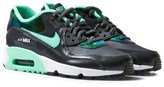 Nike Dark Grey and Green Air Max 90 Leather Trainers