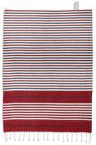 """Sur La Table Textured Stripe Kitchen Towel with Fringe, 28"""" x 20"""""""