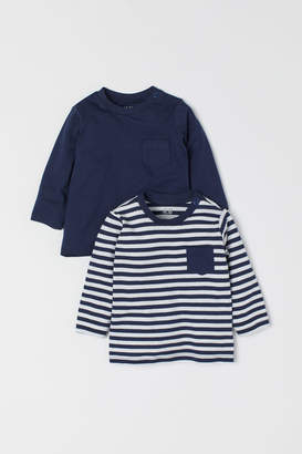 H&M 2-pack Jersey Tops - Blue