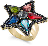 INC International Concepts Anna Sui x Gold-Tone Multi-Stone Flower Ring, Created for Macy's
