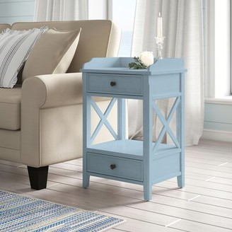 Rosecliff Heights Peniste 2 - Drawer End Table with Storage Color: Country White