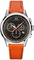 88 Rue Du Rhone 87wa154301 Rive Chronograph Nato Fabric Strap Watch, Orange/black