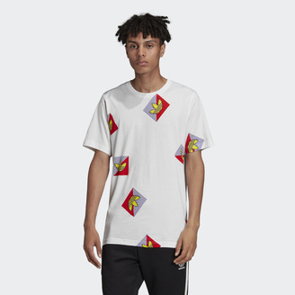 adidas Allover Print Diagonal Tee