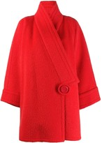 Nina Ricci Pre Owned 1980's off-centre wool coat