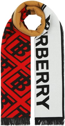 Burberry Contrast Logo Graphic Scarf