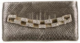 Chanel Paris-Bombay Python & Embellished Clutch