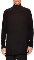 Rick Owens Cotton Solid Turtleneck Top