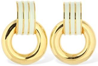 Lizzie Fortunato Piazza Enamel Earrings