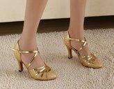 "Arboo Abby Q-6134 Womens Litin Shoes Ballroom Dance 2.4''/3.3"" Flared Heel Shoes US Size9.5"