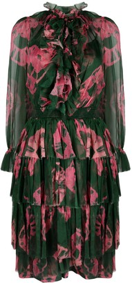 Zimmermann Poppy tiered tie-dye mid-length dress
