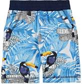 Officina51 Kids' Toucan-Print Stretch-Cotton Shorts