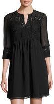 Julia Jordan Lace-Overlay Sleeveless Dress, Black