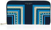 Henri Bendel West 57th Scarf Printed Zip Around Continental Wallet