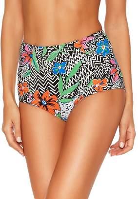 M&Co Chevron floral control bikini bottoms