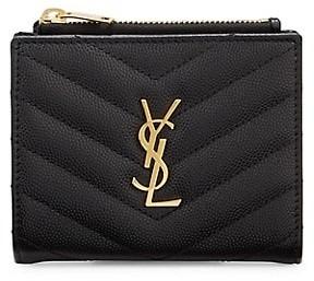 Saint Laurent Monogram Matelasse Leather Bi-Fold Wallet