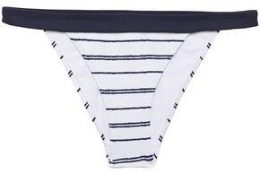 Heidi Klein Striped Pique Mid-rise Bikini Briefs
