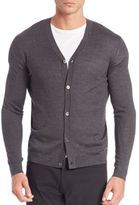 Theory Silk & Cashmere Button-Front Cardigan
