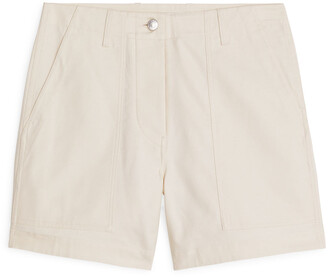 Arket Cotton Twill Workwear Shorts