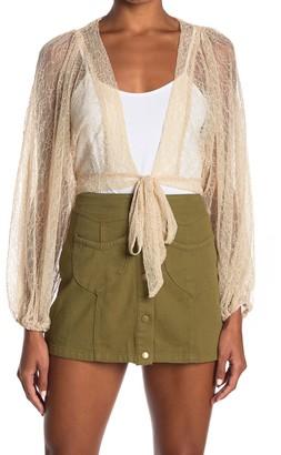 FAVLUX Front Tie Lace Crop Top