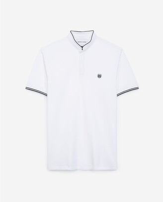 The Kooples White polo with coal blue detail