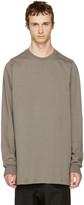 Rick Owens Grey Crewneck Sweater
